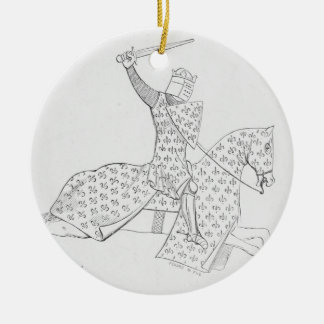 French Knight Christmas Ornament