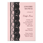 French Lace Lingerie Shower (pink) Personalised Invite