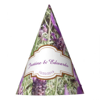 French Lavender Flowers Custom Wedding Party Hat