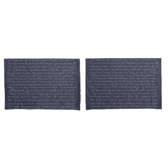 French Lettering Navy Changeable Chalkboard Colour Pillowcase