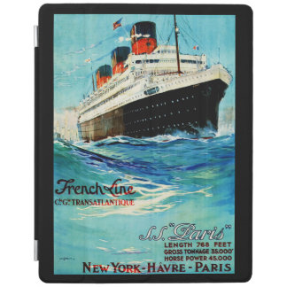 French Line ~ ss Paris iPad Cover