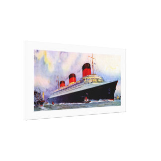 French Line's Normandie - XL Stretched Canvas Prints