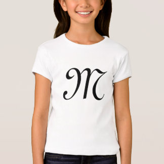 """French """"M"""" Monogrammed Girls Fitted Bella Shirt"""