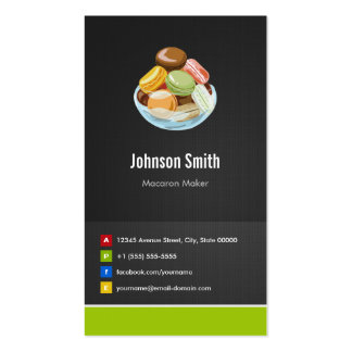 French Macaron Maker Macaroons Creative Innovative Pack Of Standard Business Cards
