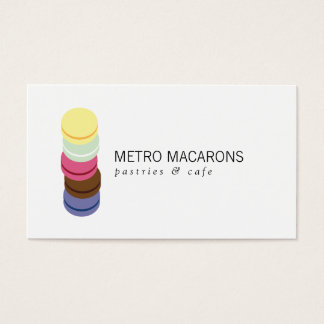 FRENCH MACARON STACK LOGO for Bakery, Pastry Chef Business Card