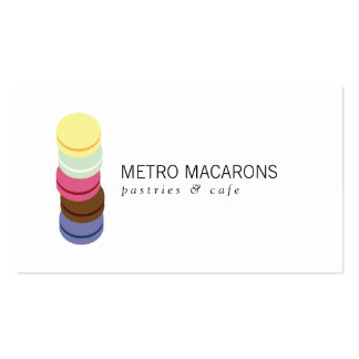 FRENCH MACARON STACK LOGO for Bakery, Pastry Chef Pack Of Standard Business Cards