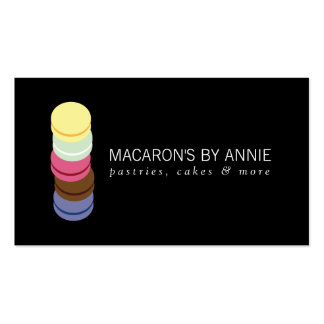 FRENCH MACARON STACK LOGO II Bakery, Pastry Chef Pack Of Standard Business Cards