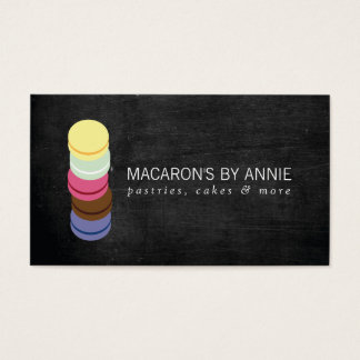 FRENCH MACARON STACK LOGO III Bakery, Pastry Chef Business Card