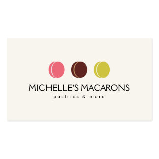 FRENCH MACARON TRIO LOGO for Bakery, Pastry Chef Pack Of Standard Business Cards