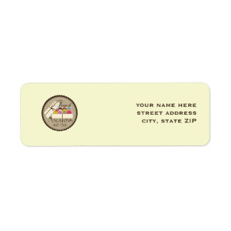 French Macarons Address Labels