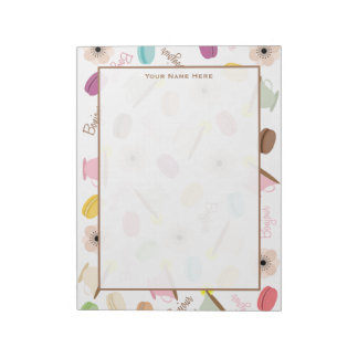 French Macarons Anemones & Teacups Notepad