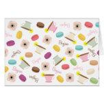 French Macarons Anemones & TeacupsNotecard Card