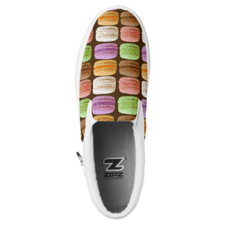 French Macarons, Multi-Colored Pastels Slip-On Shoes