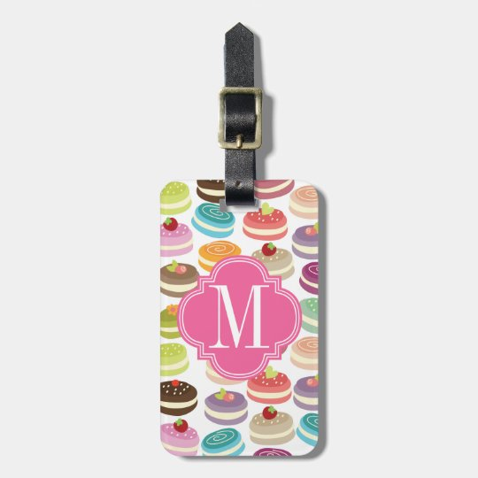 French Macarons Personalised Luggage Tag
