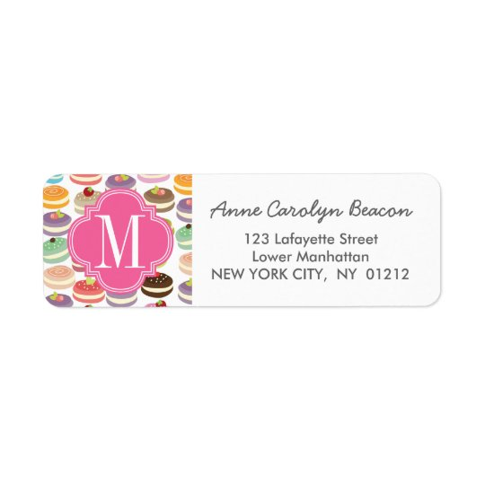 French Macarons Personalised Return Address Label
