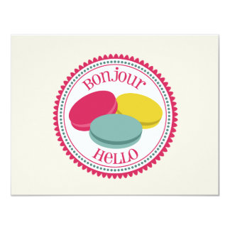 French Macarons Personalized Flat Notecards 11 Cm X 14 Cm Invitation Card