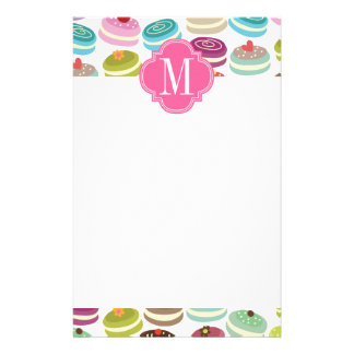 French Macarons Personalized Personalized Stationery