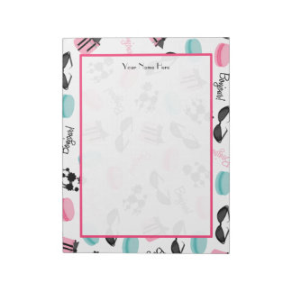 French Macarons Poodles & Sunglasses Notepad