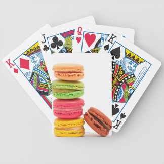 French macaroons bicycle playing cards