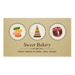 French Macaroons - Custom Dessert Bakery Store Business Card Templates
