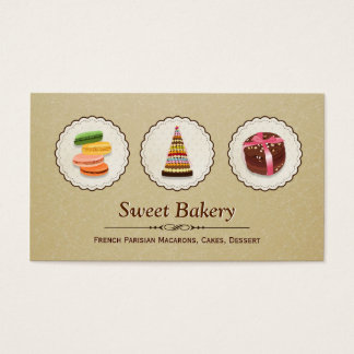 French Macaroons - Custom Dessert Bakery Store Business Card
