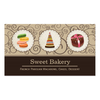 French Macaroons - Custom Dessert Bakery Store Pack Of Standard Business Cards