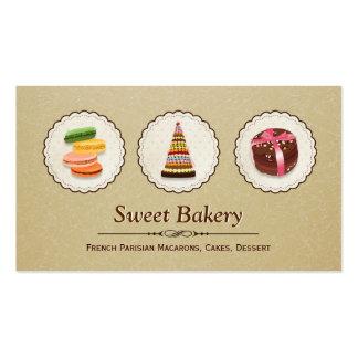 French Macaroons - Custom Dessert Bakery Store Pack Of Standard Business Cards