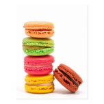 French macaroons postcards
