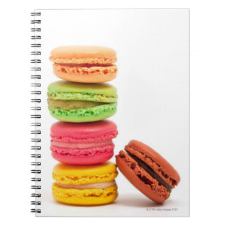 French macaroons spiral notebook