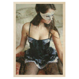 French Maid Painting 01 Wood Poster