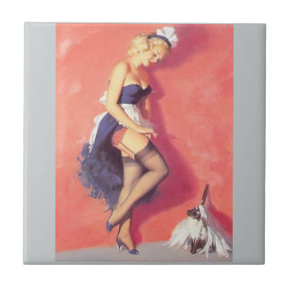 French maid tile
