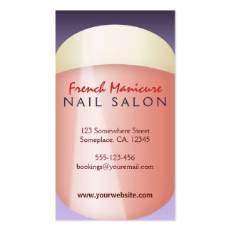 French Manicure Nail Technician Business Cards Business Card Templates