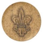 French Mardi Gras | Fleur De Lis New Orleans Plate