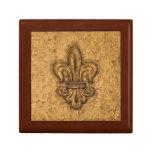 French Mardi Gras Fleur De Lis New Orleans Texture Trinket Boxes