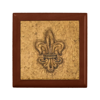 French Mardi Gras Fleur De Lis New Orleans Texture Gift Box