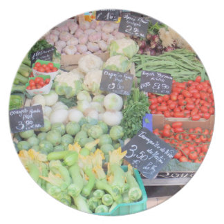 French Market - Melamine Plate