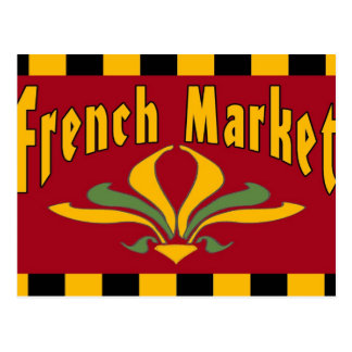 French Market Sign Postcard