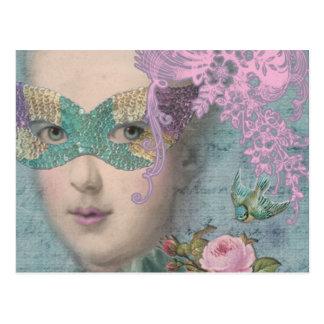 French Masquerade Postcard