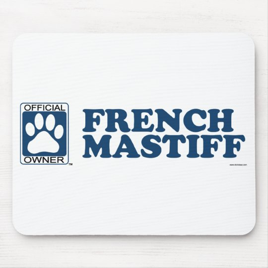 French Mastiff Blue Mouse Pad