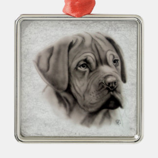 French Mastiff Christmas Ornament
