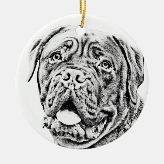 French Mastiff Christmas Ornament