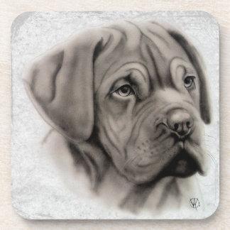 French Mastiff Portrait Coaster