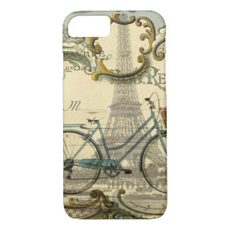 french modern vintage bike paris eiffel tower iPhone 8/7 case