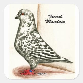 French Mondain 1973 Square Sticker