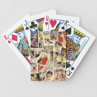 French Montage design 2 Bicycle Playing Cards