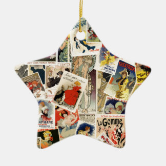 French Montage design 2 Ceramic Star Decoration