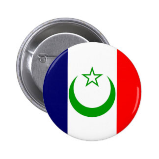 French Morocco flag France colony symbol 6 Cm Round Badge