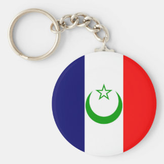 French Morocco flag France colony symbol Basic Round Button Key Ring