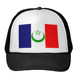 French Morocco flag France colony symbol Hats