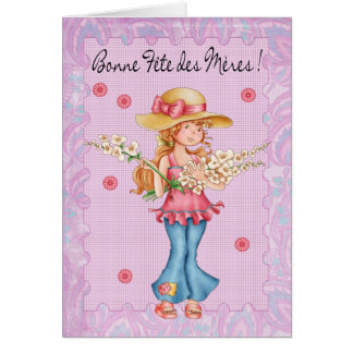French Mother's Day Card, Bonne Fete Des Meres